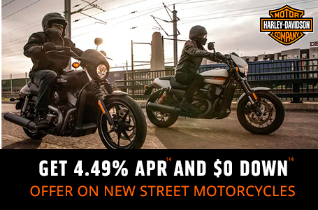 GET 4.49% APR AND $0 DOWN ON NEW STREET