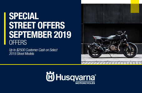 SPECIAL STREET OFFERS SEPTEMBER 2019
