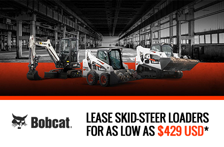 Lease Bobcat Skid-Steer Loaders For As Low As $429