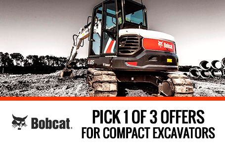 Pick 1 of 3 Offers for Bobcat Compact Excavators