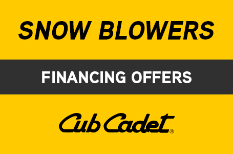 Snow Blowers Financing Offers