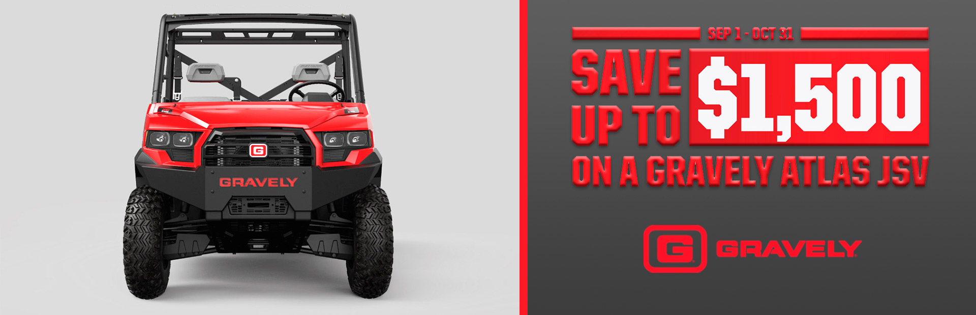 Gravely: Save Up To $1,500 on a Gravely Atlas JSV