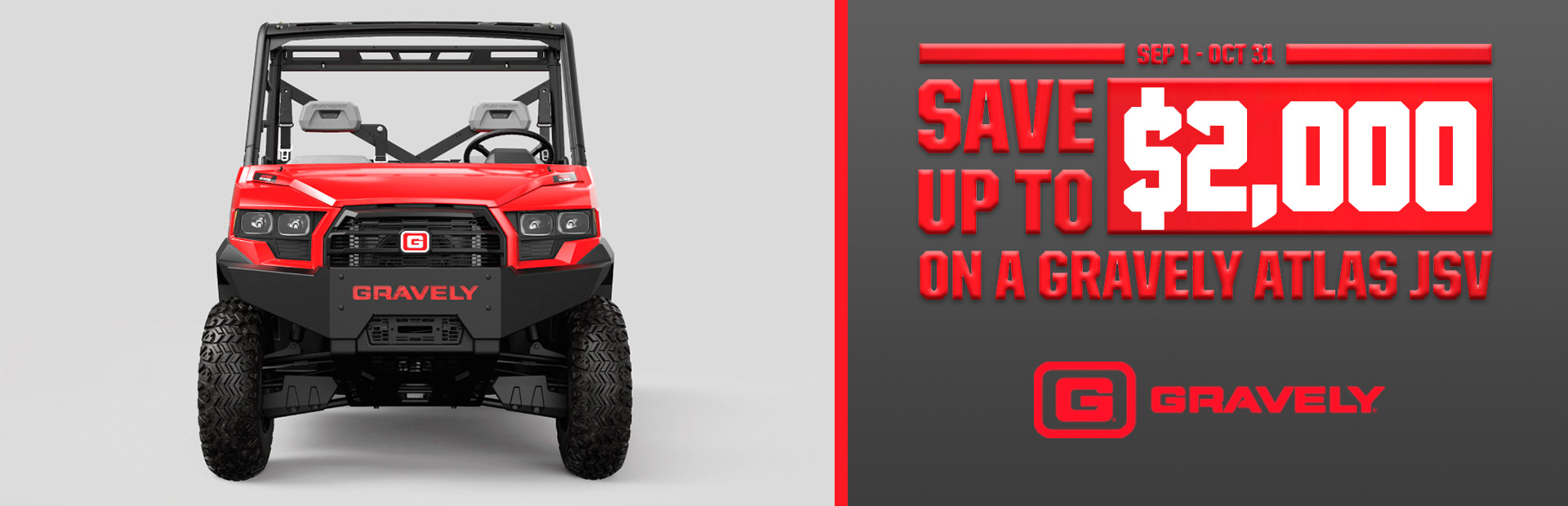 Gravely: Save Up To $2,000 on a Gravely Atlas JSV