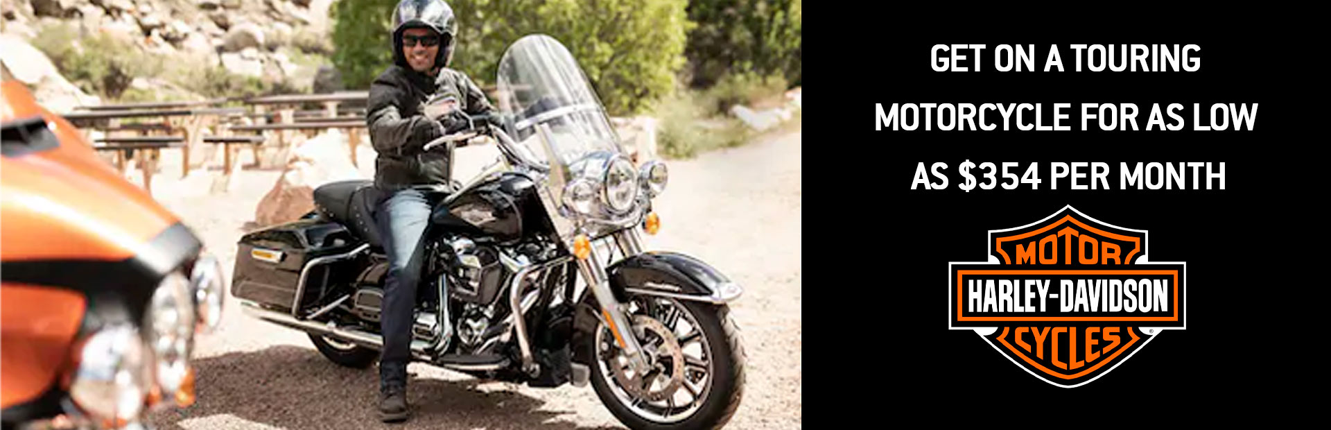 Harley-Davidson®: GET ON A TOURING MOTORCYCLE FOR AS LOW AS $354