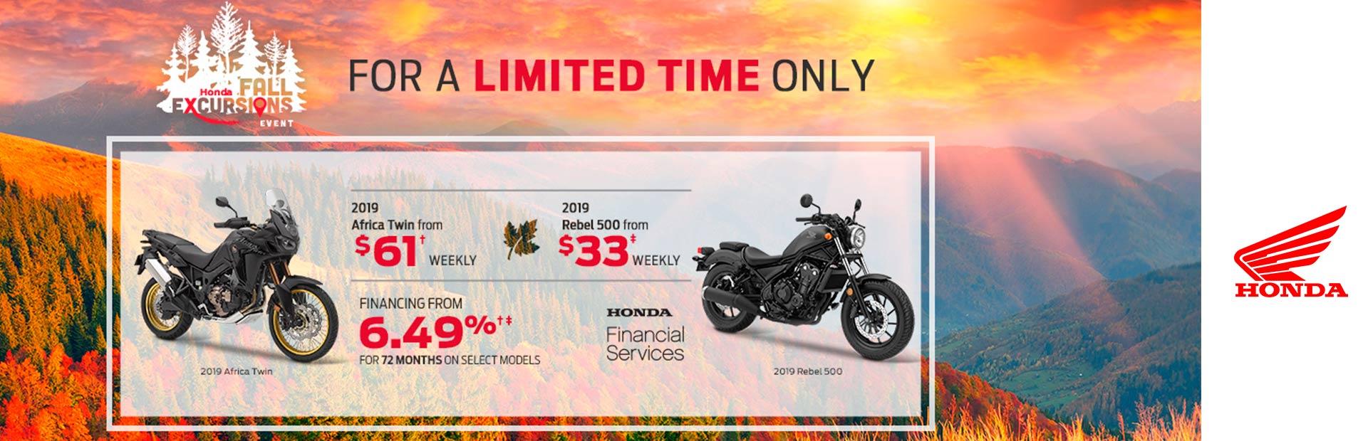 Honda Motorcycles Calgary >> Honda Honda Fall Excursions Motorcycles Rocky Mountain