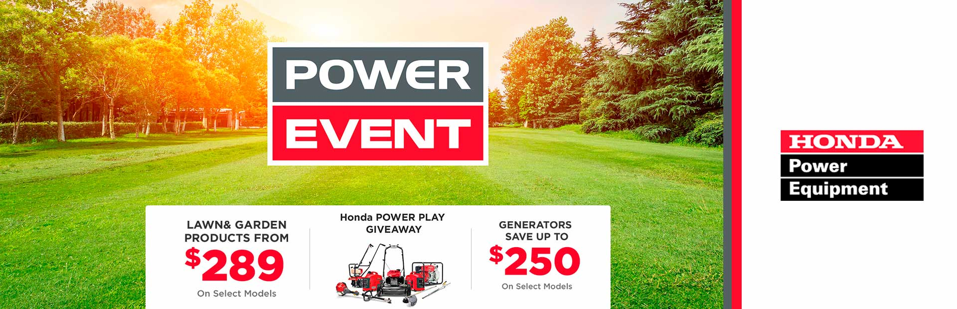Honda Power Equipment: Honda Power Play Giveaway