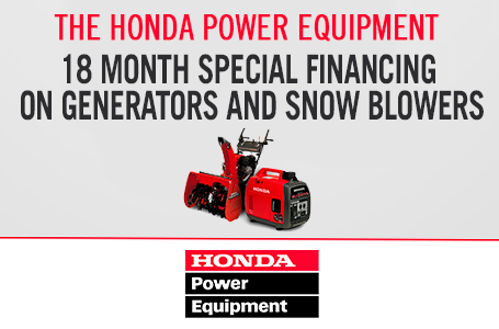 18 Month Special Financing on Generators and Snow