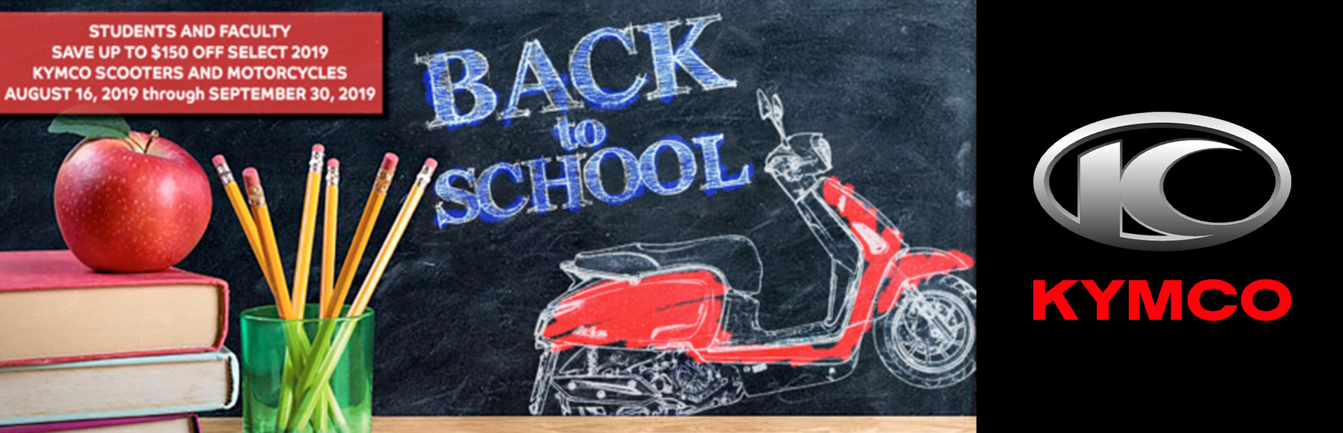KYMCO: 2019 FALL BACK TO SCHOOL REBATE