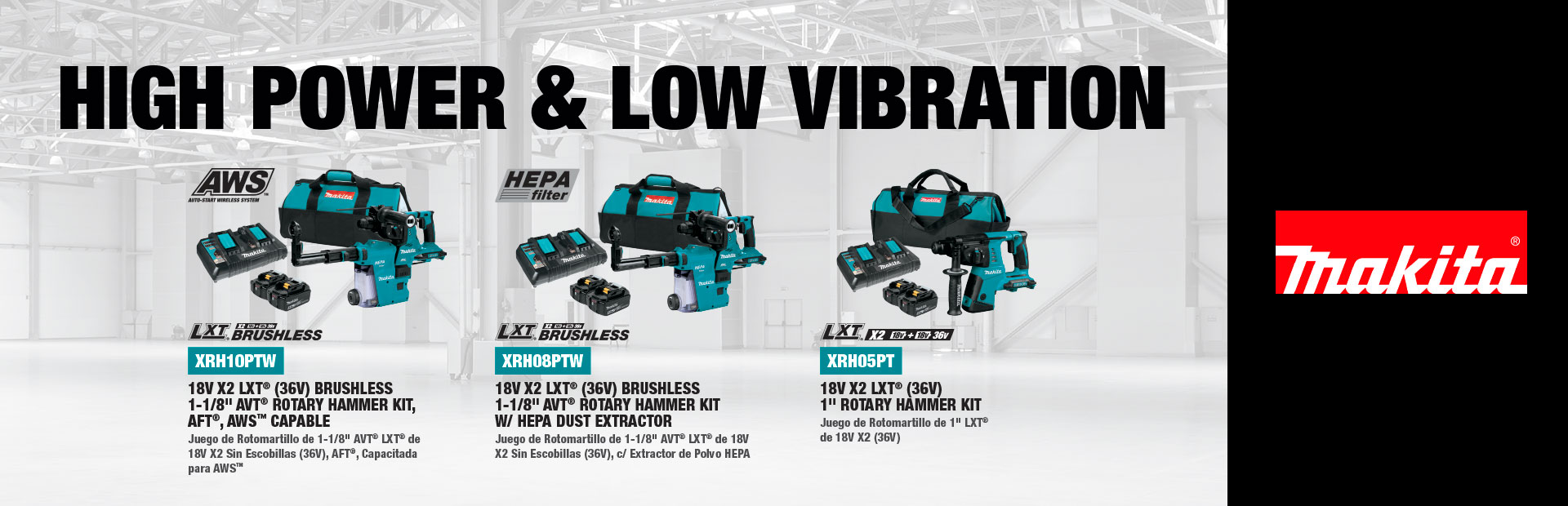 Makita: High Power & Low Vibration