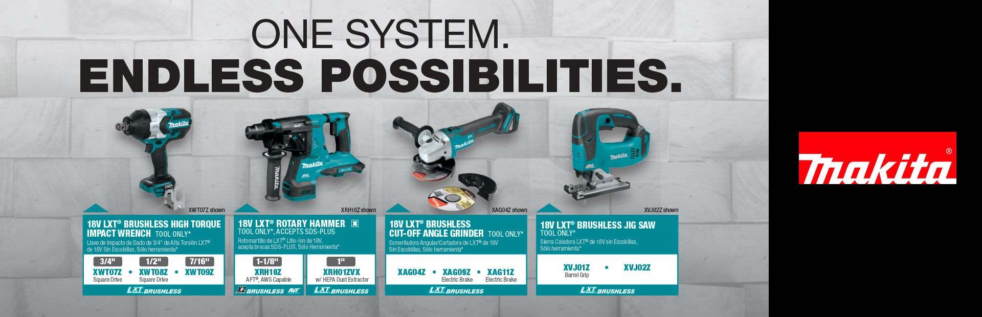 Makita: One System Endless Possibilities