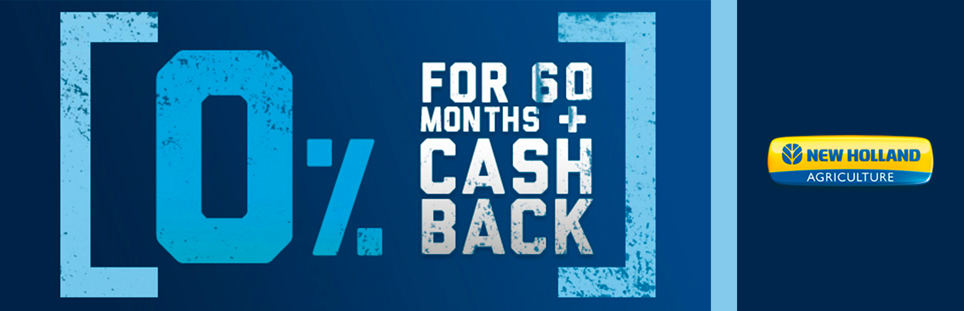 New Holland Agriculture: 0% for 60 PLUS Cash Back