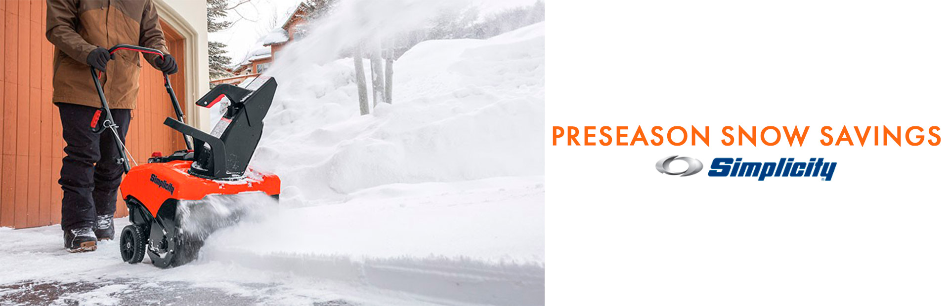 Simplicity: PRESEASON SNOW SAVINGS