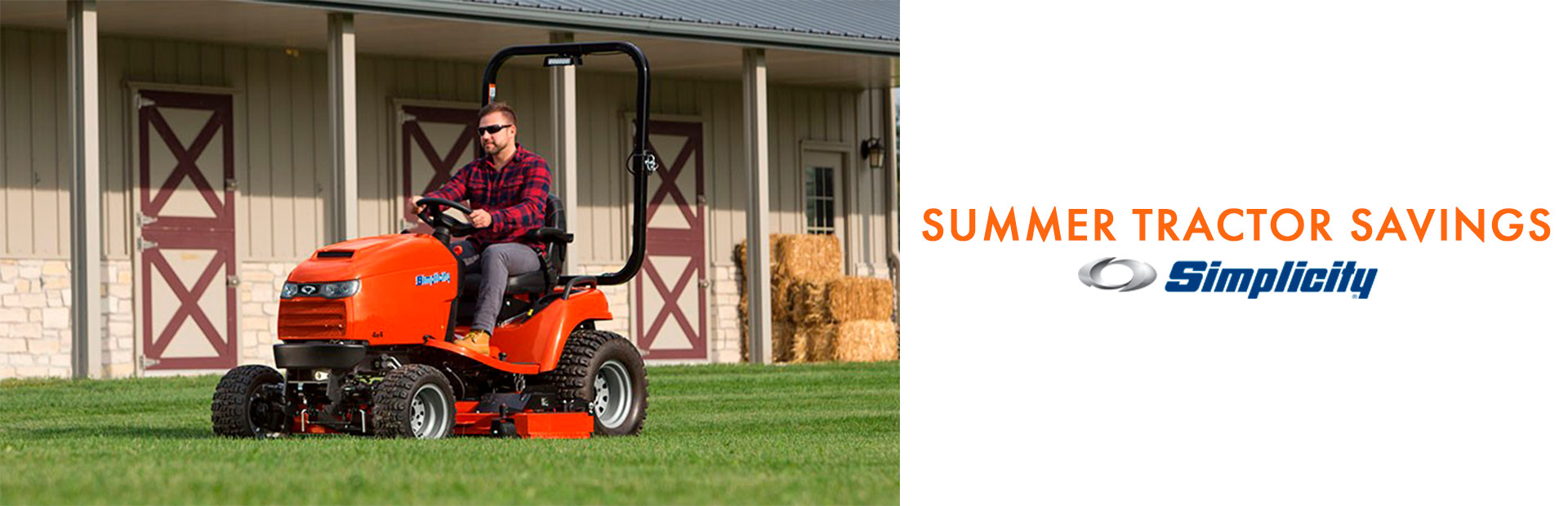 Simplicity: SUMMER TRACTOR SAVINGS