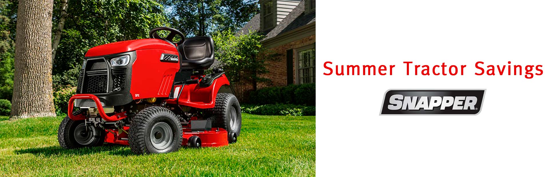 Snapper: Summer Tractor Savings