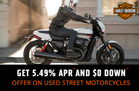 GET 5.49% APR15 AND $0 DOWN15 ON USED STREET