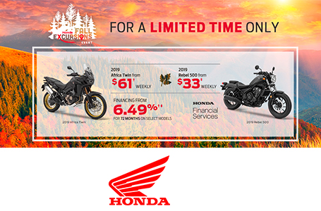 Honda Fall Excursions - Motorcycles