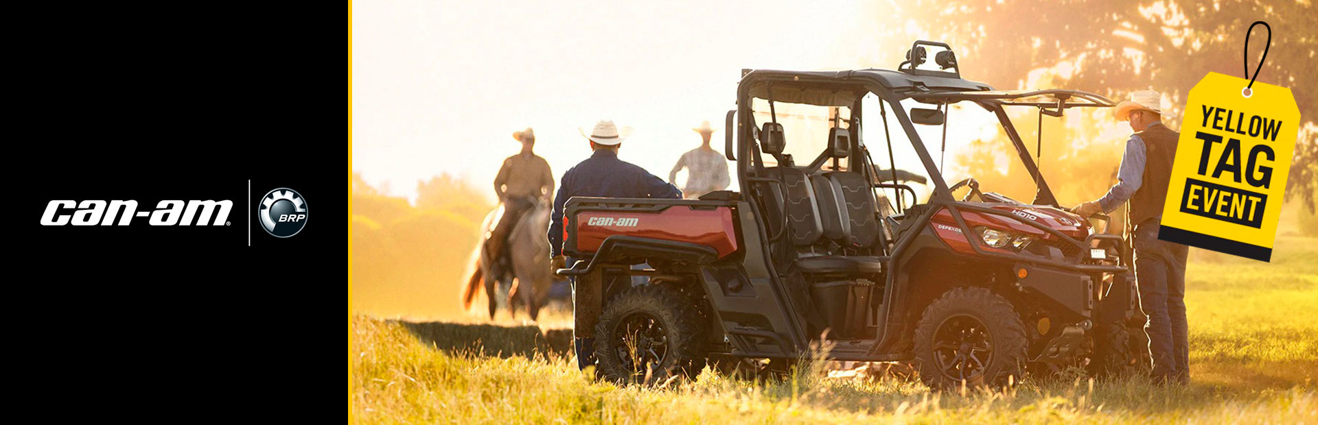 Can-Am: Yellow Tag Event - Defender Rebates