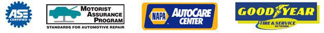 We are affiliated with ASE, Motorist Assistance Program, NAPA Car Care Center, and Goodyear Tire & Service Network.