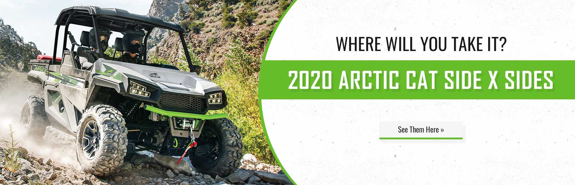 2020 Arctic Cat Side x Sides: Click here now!