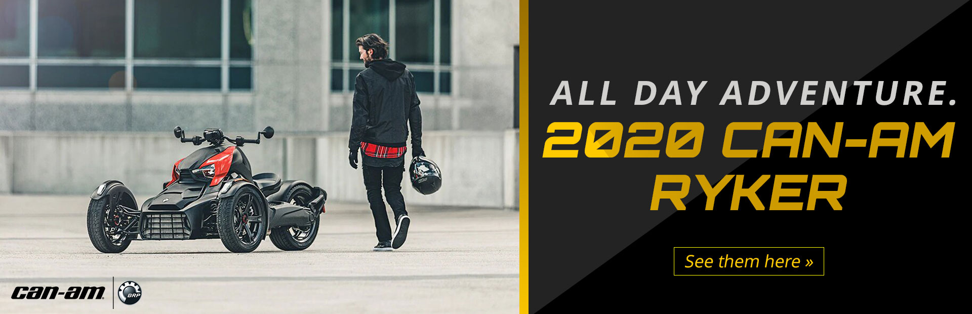 2020 Can-Am Ryker: Click here to view the models.