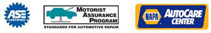 We are affiliated with ASE, Motorist Assistance Program, and NAPA Car Care Center.